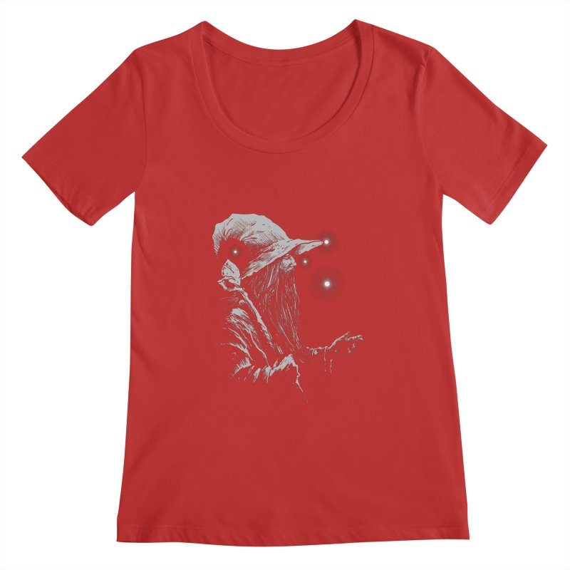 Grey Wizzard Women's Scoopneck by Cumix47's Artist Shop