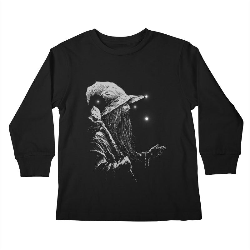 Grey Wizzard Kids Longsleeve T-Shirt by Cumix47's Artist Shop