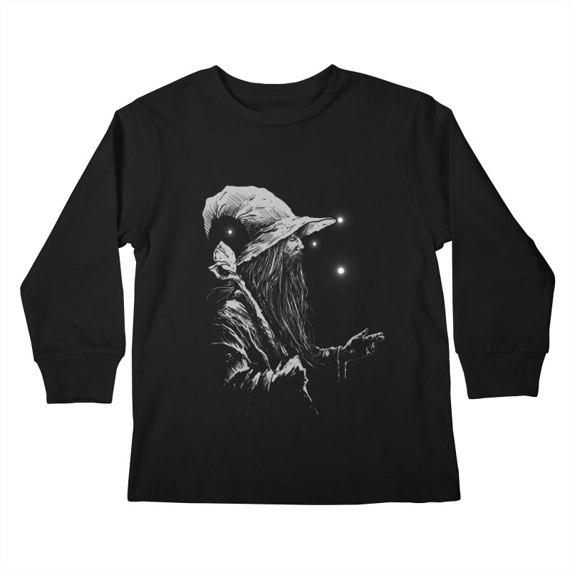 Grey Wizzard Kids Longsleeve T-Shirt by Cumix47's Artist Shop