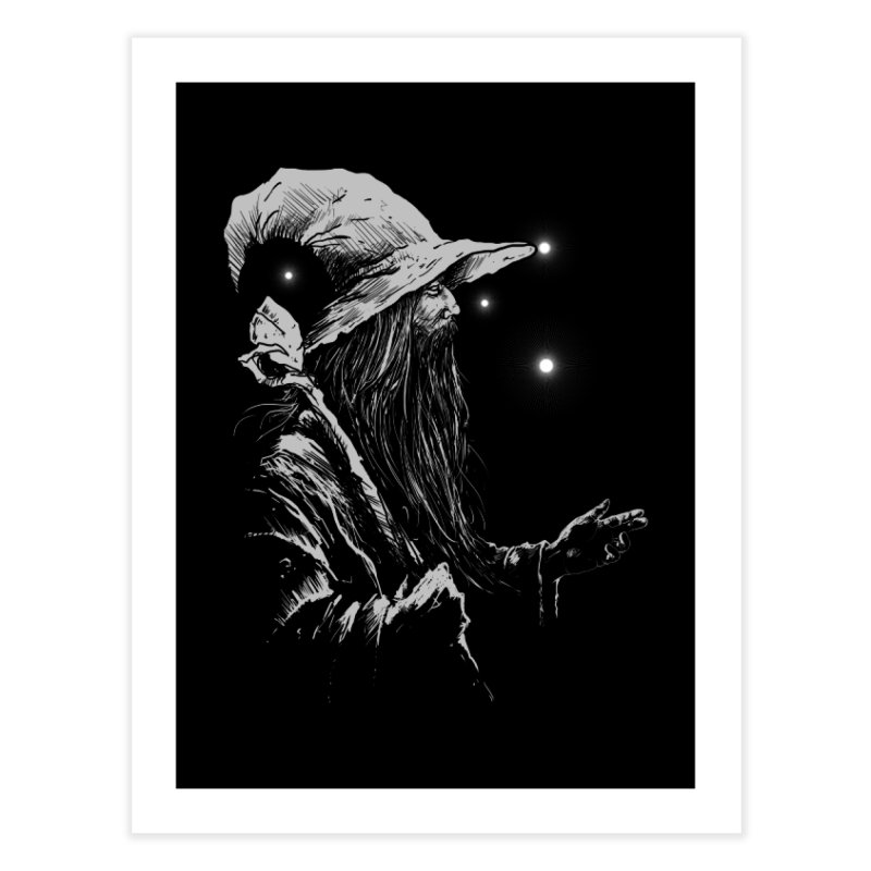 Grey Wizzard Home Fine Art Print by Cumix47's Artist Shop
