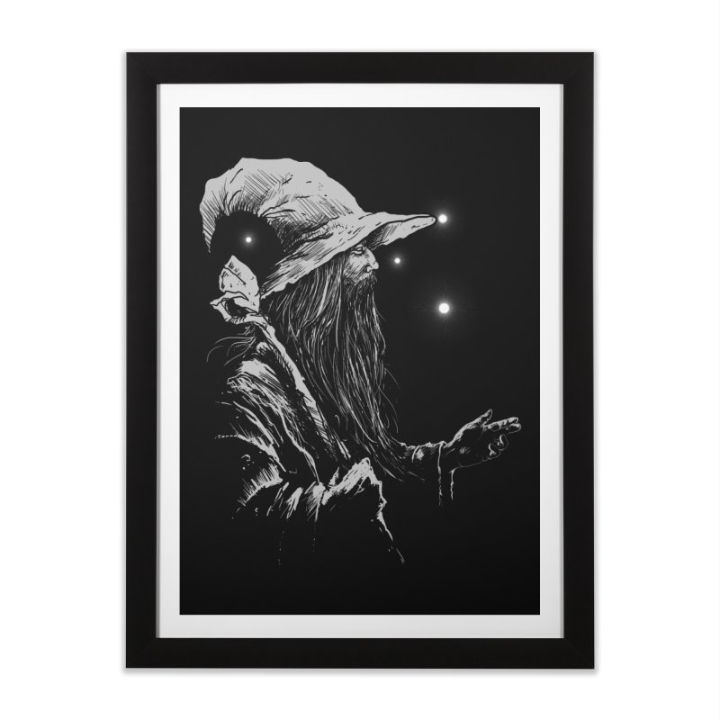 Grey Wizzard Home Framed Fine Art Print by Cumix47's Artist Shop