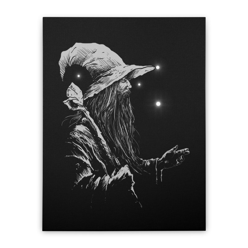 Grey Wizzard Home Stretched Canvas by Cumix47's Artist Shop