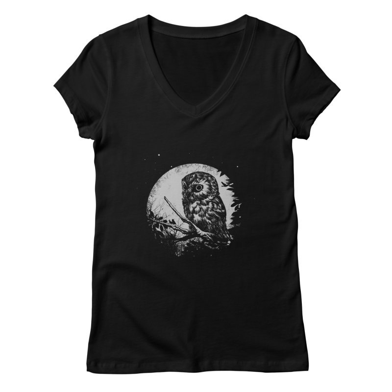 Friend of the Night Women's V-Neck by Cumix47's Artist Shop