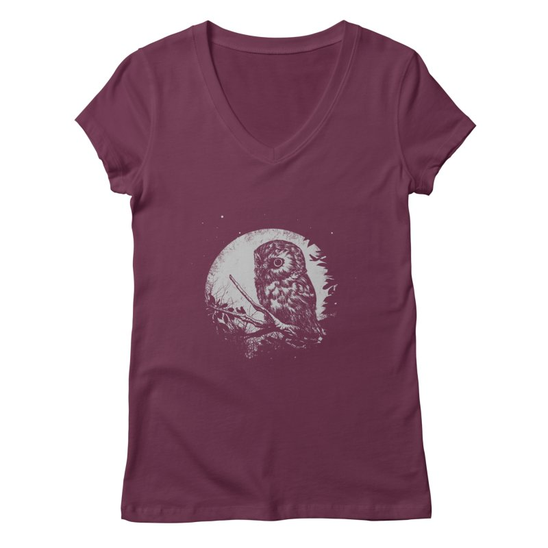 Friend of the Night Women's V-Neck by Cumix47's Artist Shop