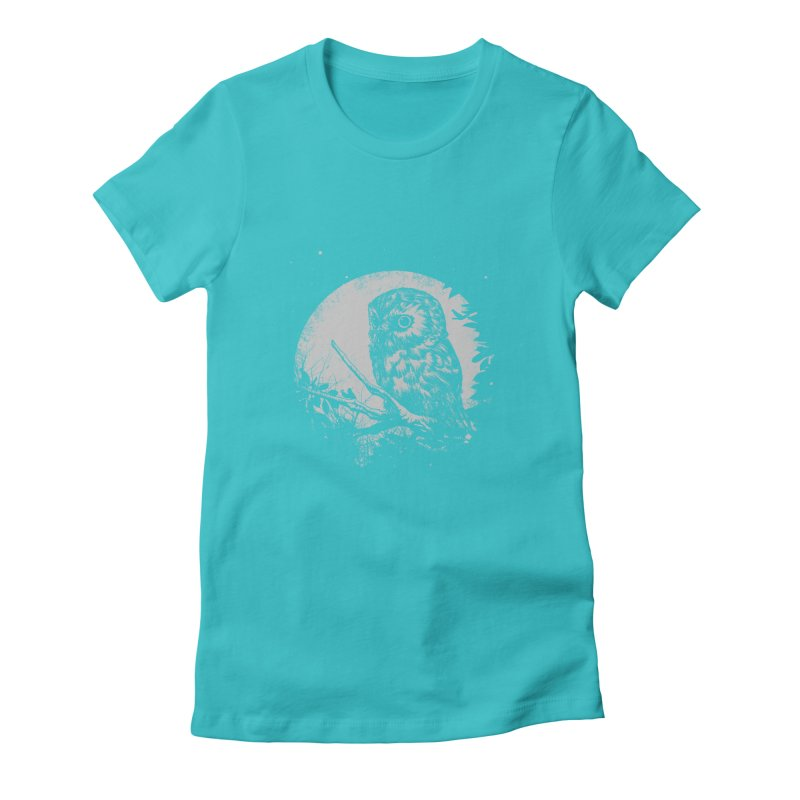 Friend of the Night Women's Fitted T-Shirt by Cumix47's Artist Shop
