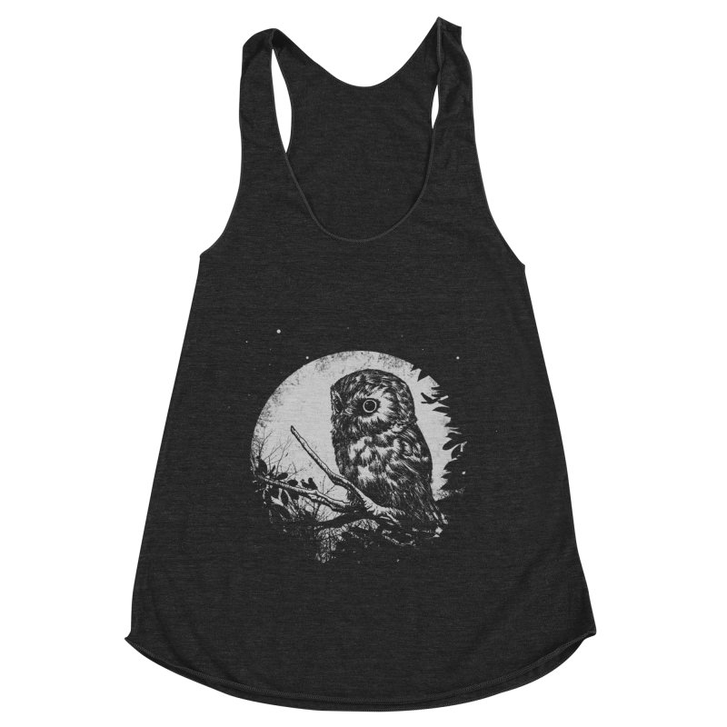 Friend of the Night Women's Racerback Triblend Tank by Cumix47's Artist Shop