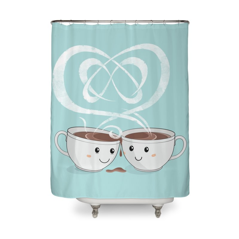 Coffee Lovers Home Shower Curtain by cumulo7's Artist Shop