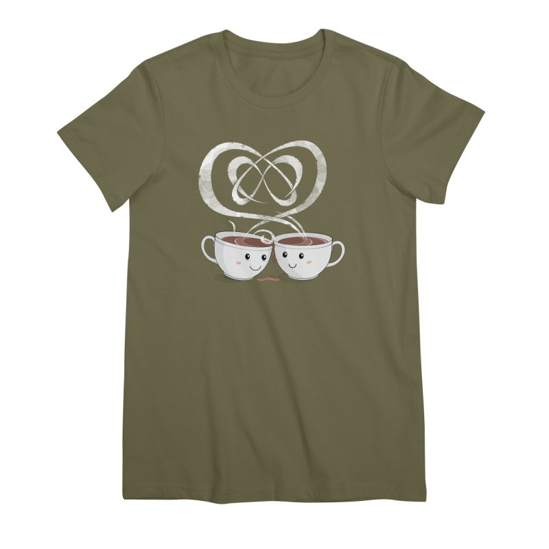 Coffee Lovers Women's Premium T-Shirt by Cumulo 7