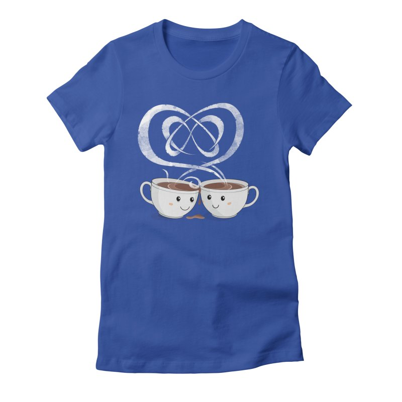 Coffee Lovers Women's Fitted T-Shirt by cumulo7's Artist Shop