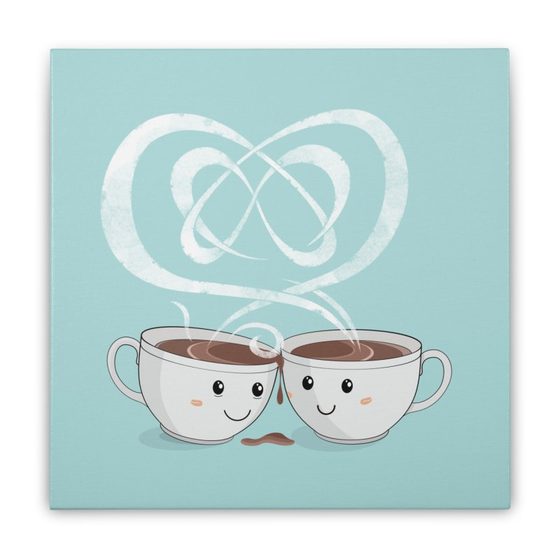 Coffee Lovers Home Stretched Canvas by cumulo7's Artist Shop