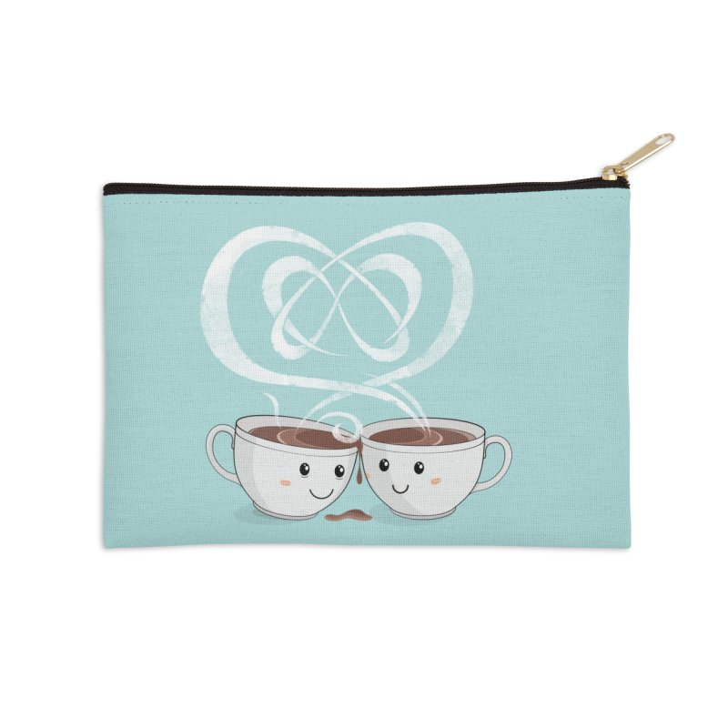 Coffee Lovers Accessories Zip Pouch by cumulo7's Artist Shop