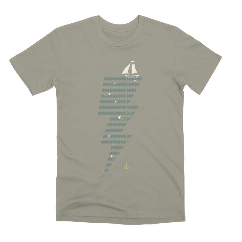 Sea Storm Men's Premium T-Shirt by cumulo7's Artist Shop