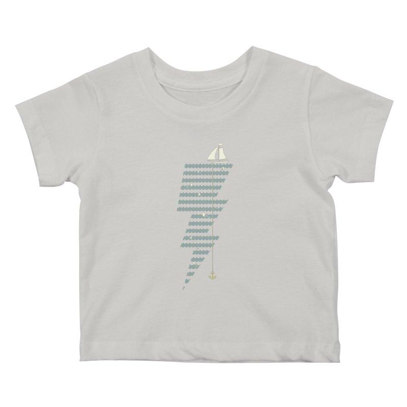 Sea Storm Kids Baby T-Shirt by cumulo7's Artist Shop