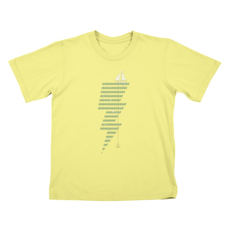 Sea Storm Kids T-shirt by cumulo7's Artist Shop