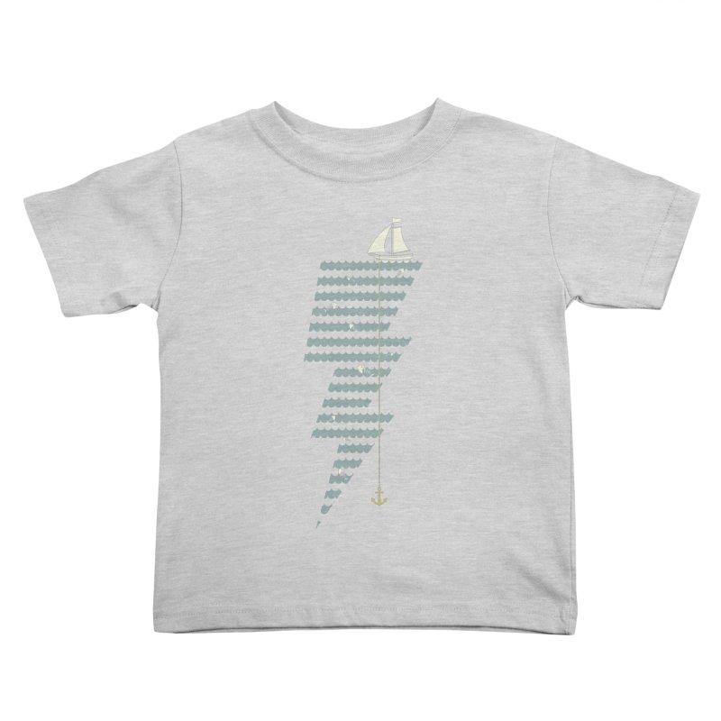 Sea Storm Kids Toddler T-Shirt by cumulo7's Artist Shop
