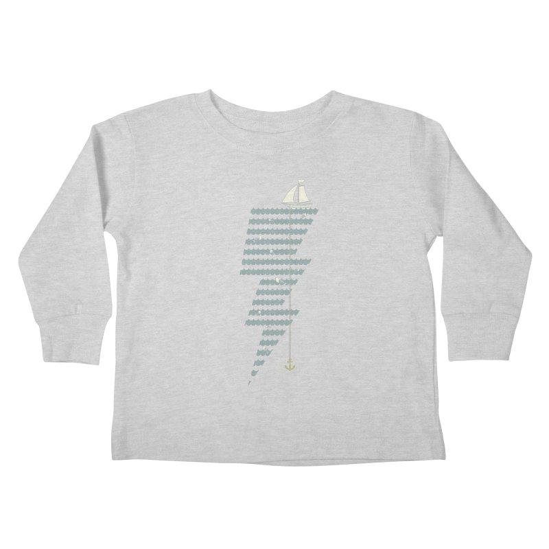 Sea Storm Kids Toddler Longsleeve T-Shirt by cumulo7's Artist Shop