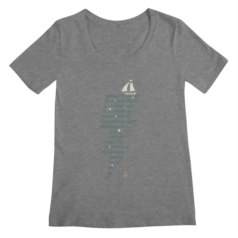 Sea Storm Women's Scoopneck by cumulo7's Artist Shop