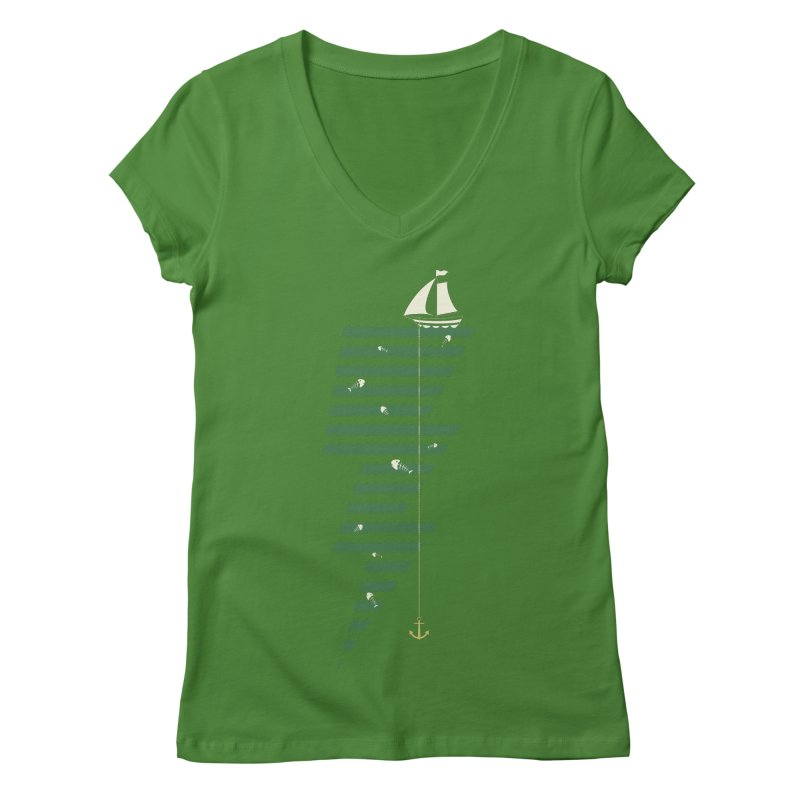 Sea Storm Women's V-Neck by cumulo7's Artist Shop