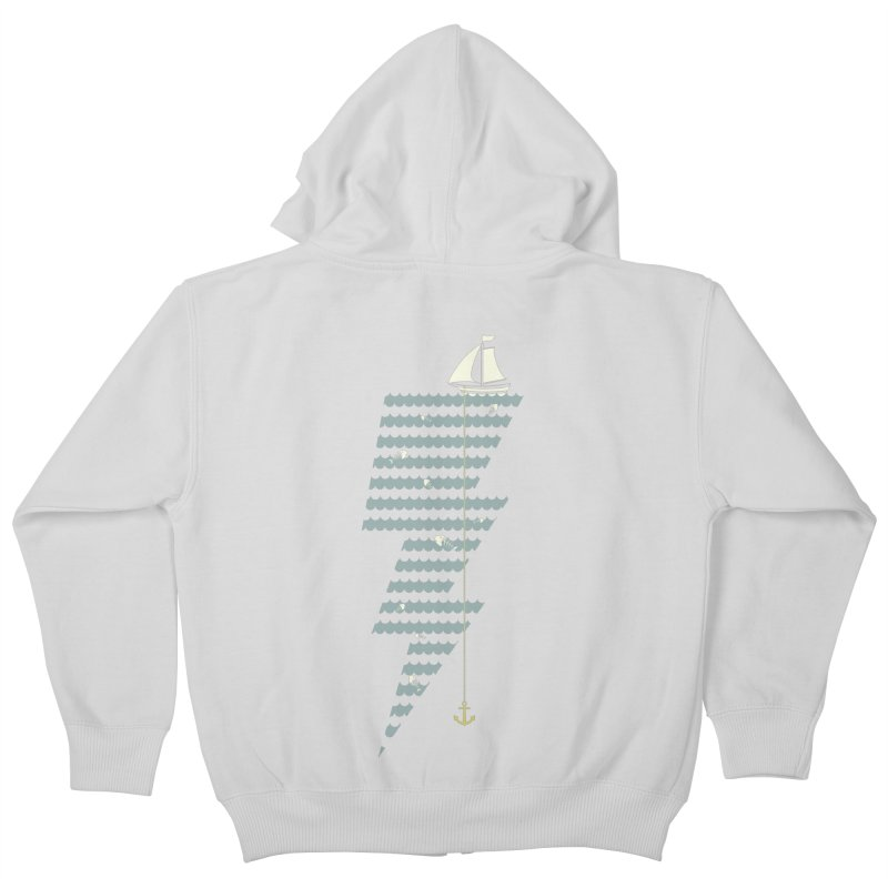 Sea Storm Kids Zip-Up Hoody by cumulo7's Artist Shop