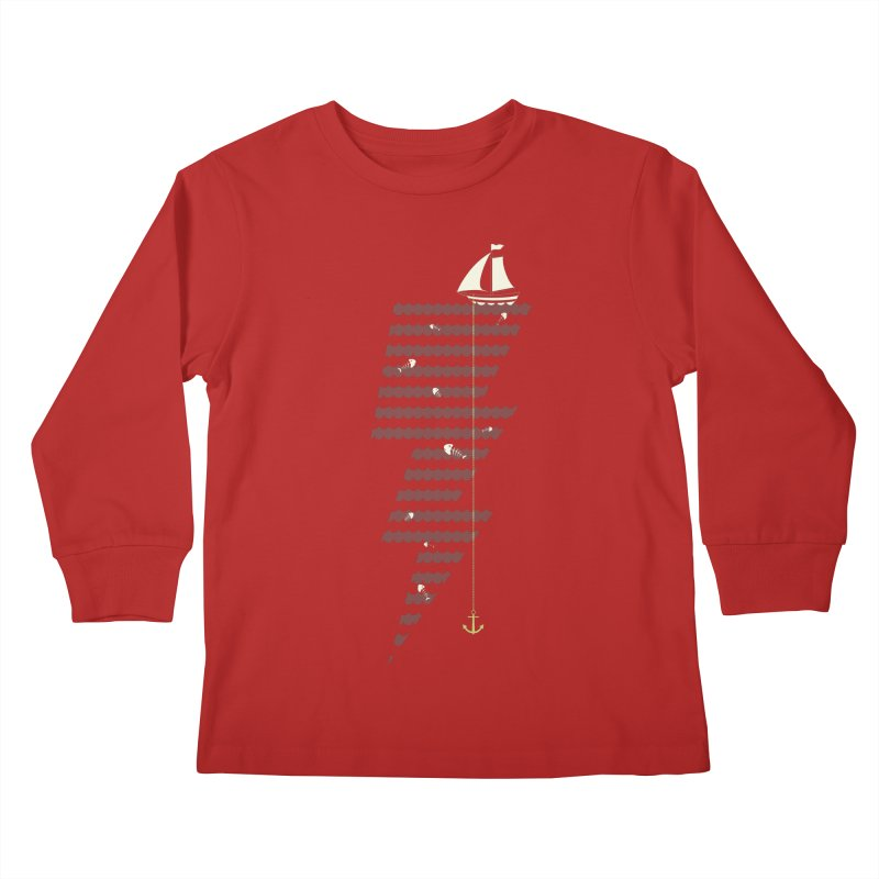 Sea Storm Kids Longsleeve T-Shirt by cumulo7's Artist Shop
