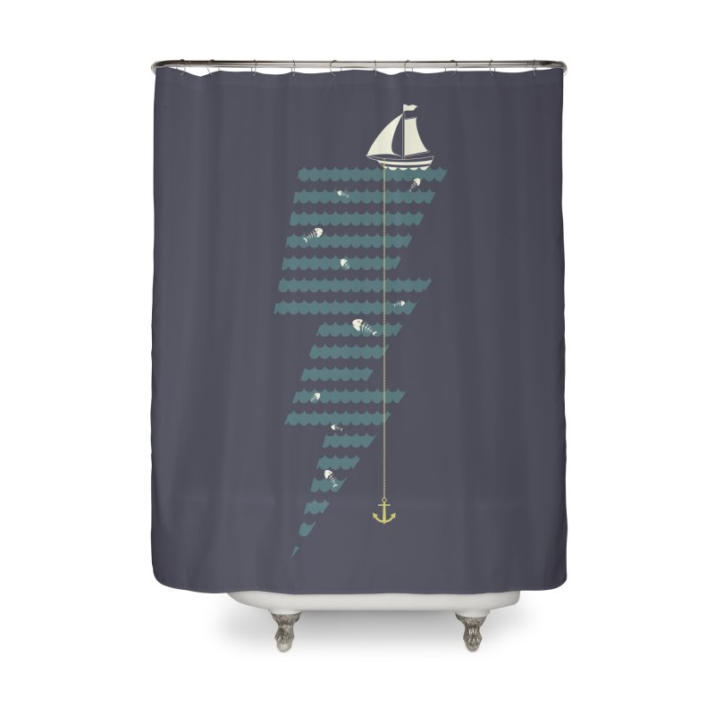 Sea Storm Home Shower Curtain by cumulo7's Artist Shop