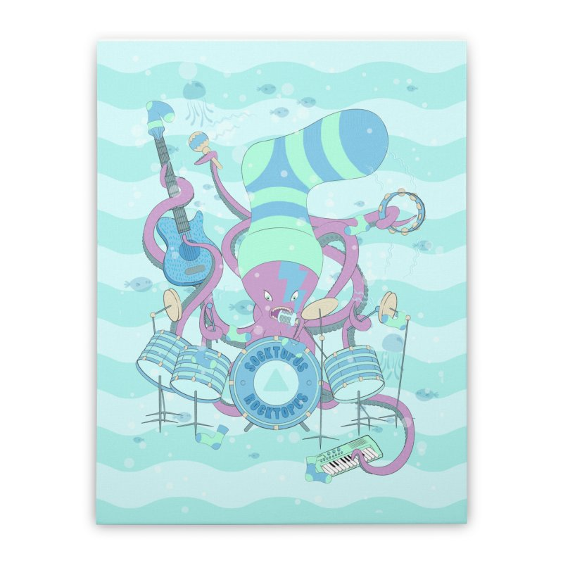 Socktopus Rocktopus Home Stretched Canvas by cumulo7's Artist Shop