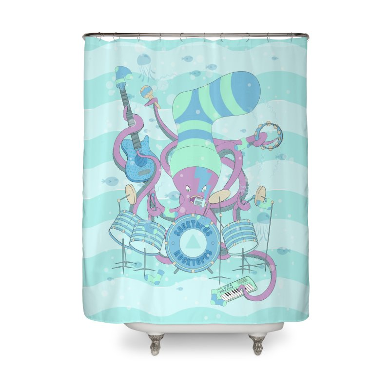 Socktopus Rocktopus Home Shower Curtain by cumulo7's Artist Shop