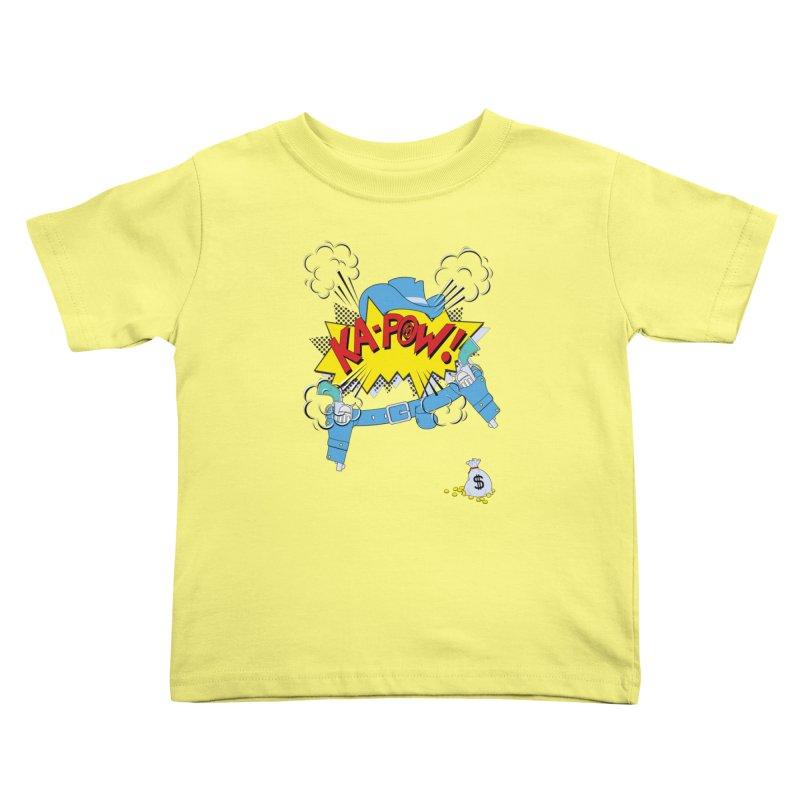 Ka-PowBoy!! Kids Toddler T-Shirt by cumulo7's Artist Shop