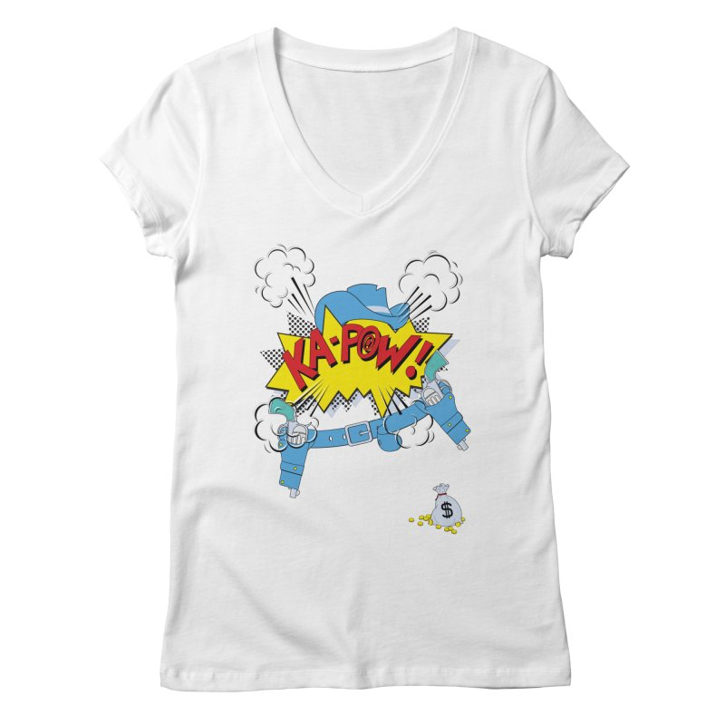Ka-PowBoy!! Women's V-Neck by cumulo7's Artist Shop