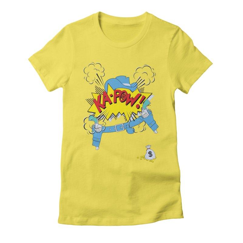 Ka-PowBoy!! Women's Fitted T-Shirt by cumulo7's Artist Shop