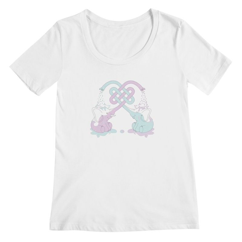 Elefunt Women's Scoopneck by cumulo7's Artist Shop