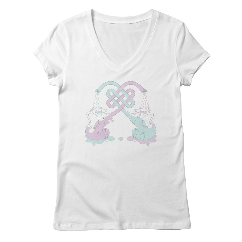 Elefunt Women's V-Neck by cumulo7's Artist Shop
