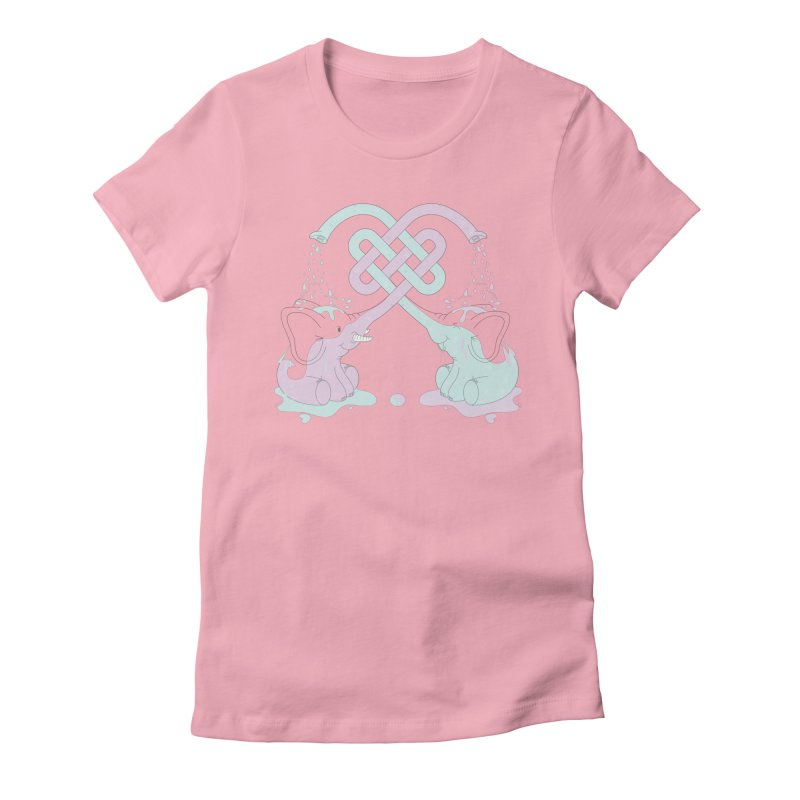 Elefunt Women's Fitted T-Shirt by cumulo7's Artist Shop