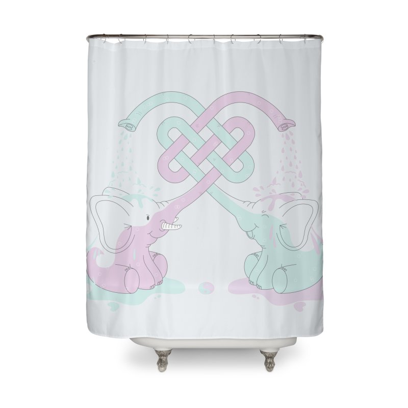 Elefunt Home Shower Curtain by cumulo7's Artist Shop