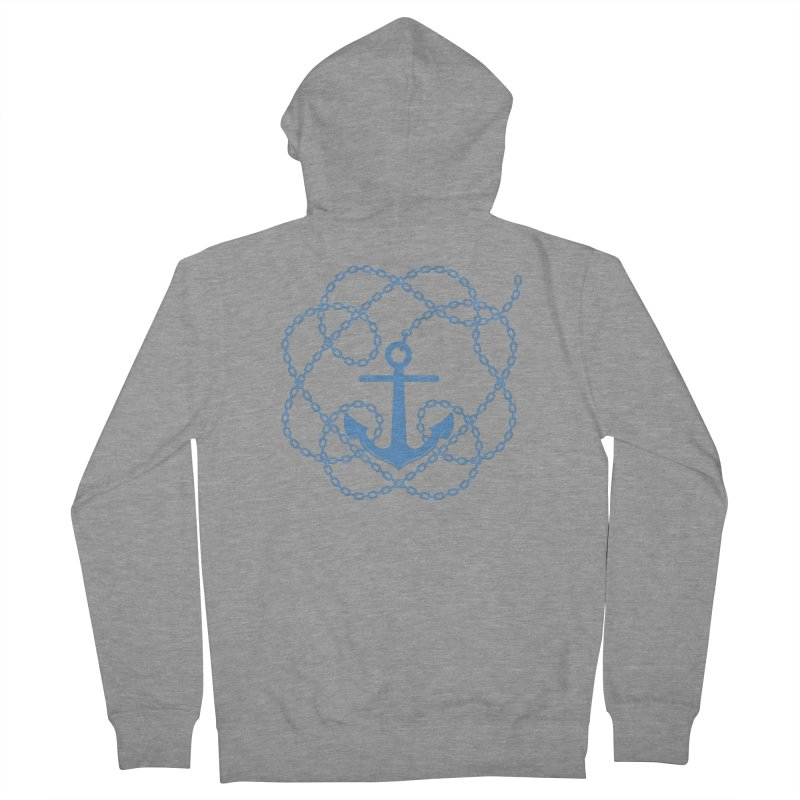 Anchord Men's French Terry Zip-Up Hoody by cumulo7's Artist Shop