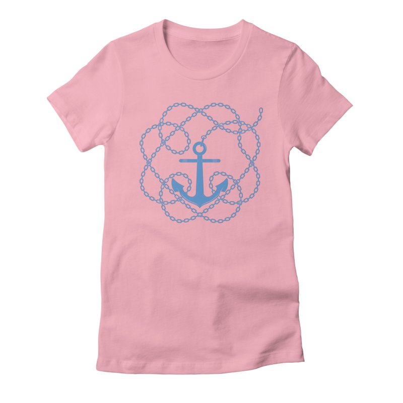 Anchord Women's Fitted T-Shirt by cumulo7's Artist Shop