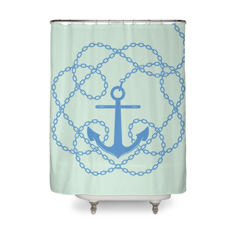 Anchord Home Shower Curtain by cumulo7's Artist Shop