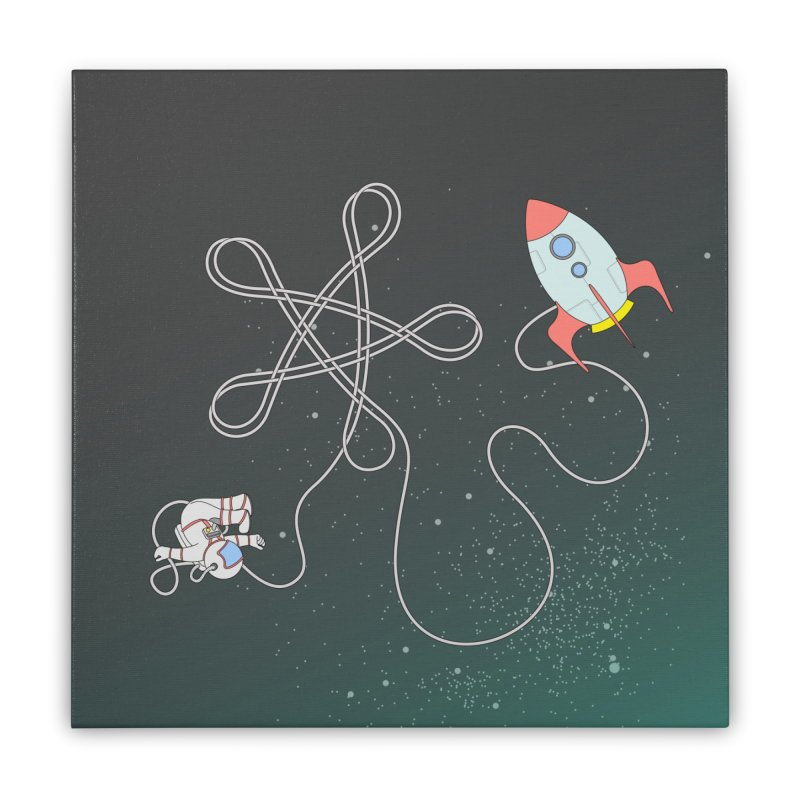 Twinkle, Twinkle, Little Space Man Home Stretched Canvas by cumulo7's Artist Shop