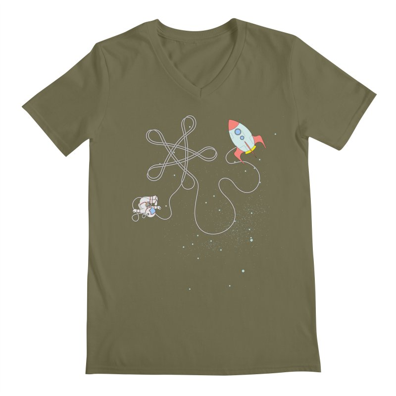 Twinkle, Twinkle, Little Space Man Men's V-Neck by Cumulo 7