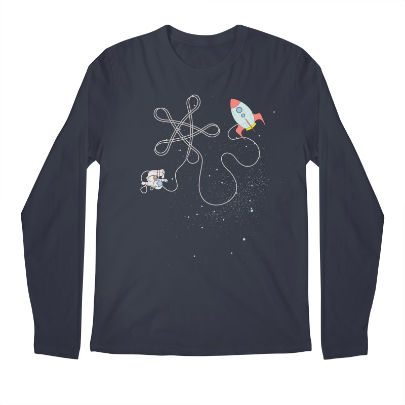 Twinkle, Twinkle, Little Space Man Men's Regular Longsleeve T-Shirt by Cumulo 7