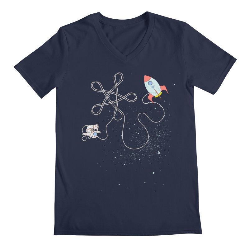 Twinkle, Twinkle, Little Space Man Men's V-Neck by cumulo7's Artist Shop