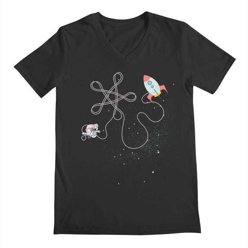Twinkle, Twinkle, Little Space Man Men's Regular V-Neck by cumulo7's Artist Shop