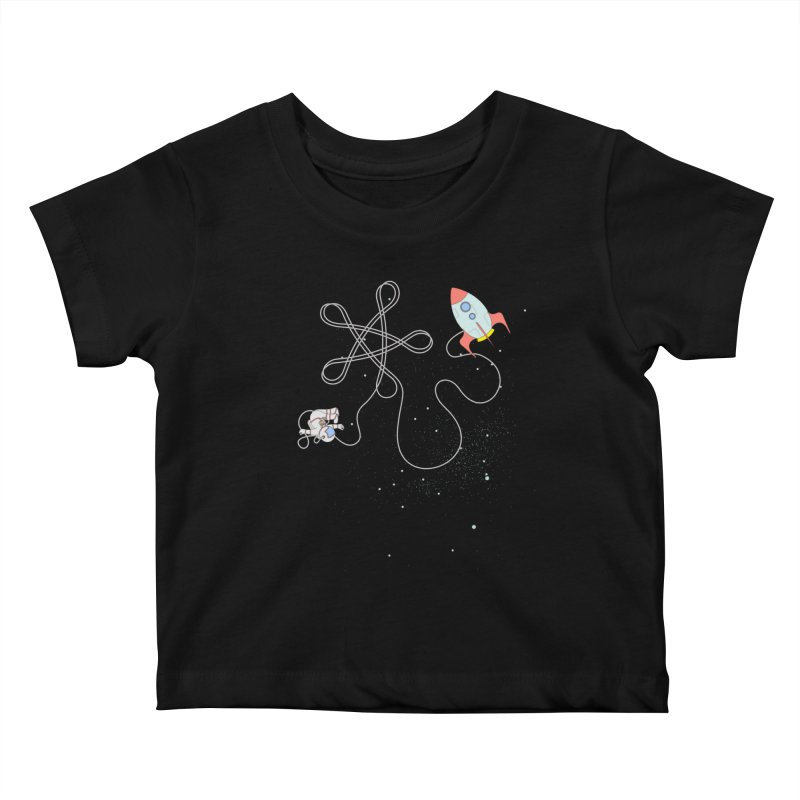 Twinkle, Twinkle, Little Space Man Kids Baby T-Shirt by Cumulo 7