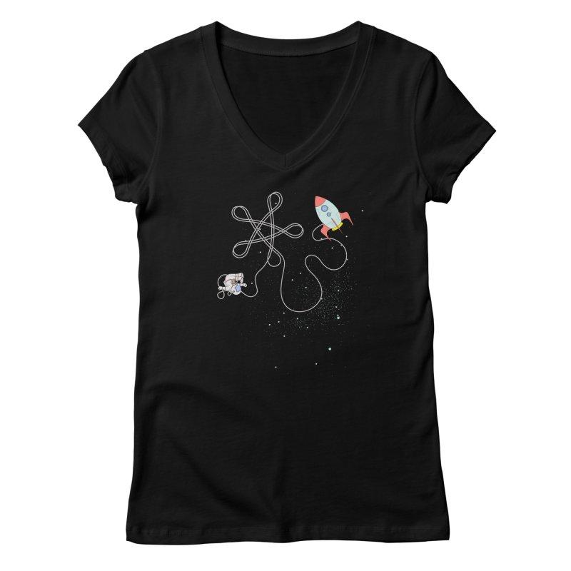 Twinkle, Twinkle, Little Space Man Women's V-Neck by Cumulo 7