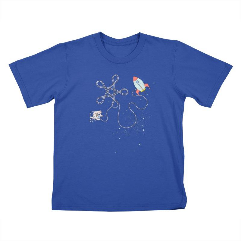 Twinkle, Twinkle, Little Space Man Kids T-Shirt by Cumulo 7