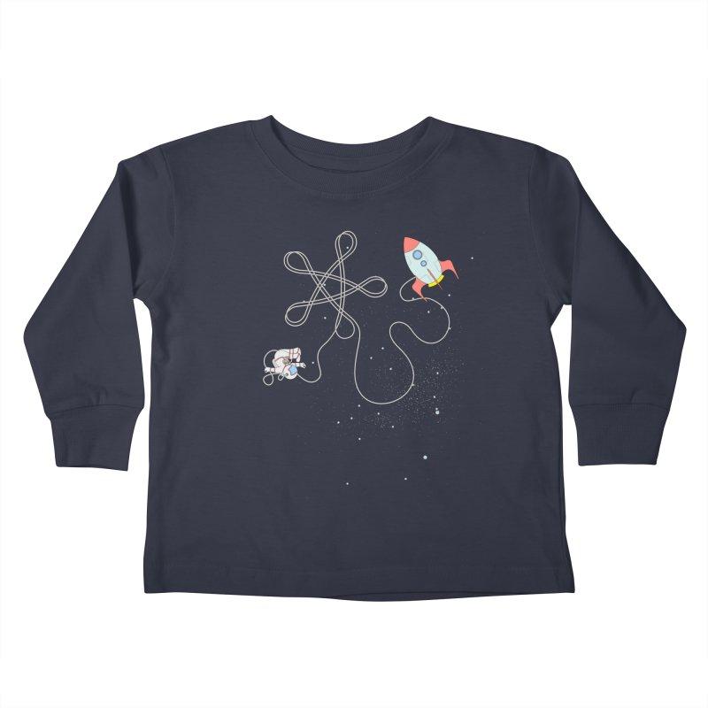 Twinkle, Twinkle, Little Space Man Kids Toddler Longsleeve T-Shirt by Cumulo 7