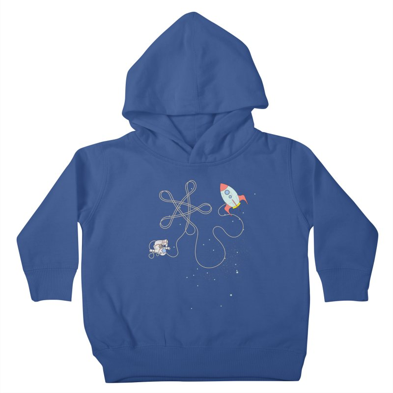 Twinkle, Twinkle, Little Space Man Kids Toddler Pullover Hoody by Cumulo 7