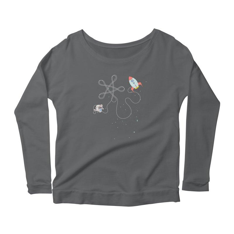 Twinkle, Twinkle, Little Space Man Women's Longsleeve Scoopneck  by cumulo7's Artist Shop