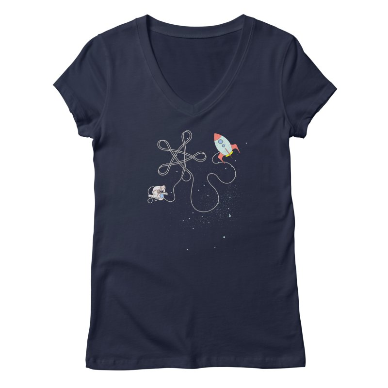 Twinkle, Twinkle, Little Space Man Women's V-Neck by cumulo7's Artist Shop