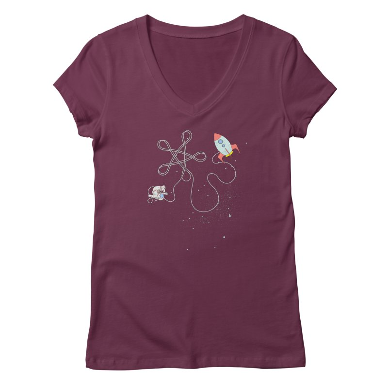 Twinkle, Twinkle, Little Space Man Women's Regular V-Neck by Cumulo 7